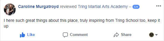 Caroline Murgatroyd, Tring Martial Arts Testimonials