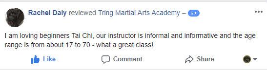 Rachel Daly, Tring Martial Arts Testimonials