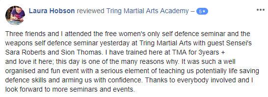 Tring Martial Arts Laura Hobson