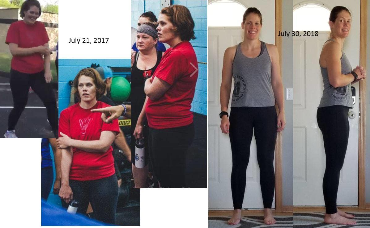 Crow River CrossFit Sarah E. Before and After