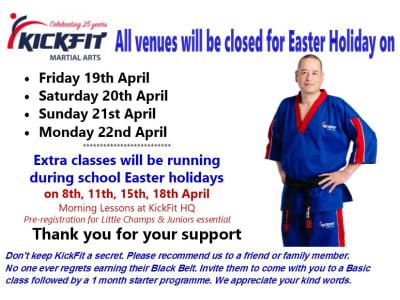 Easter Bank Holiday Closure - KickFit Martial Arts Slough