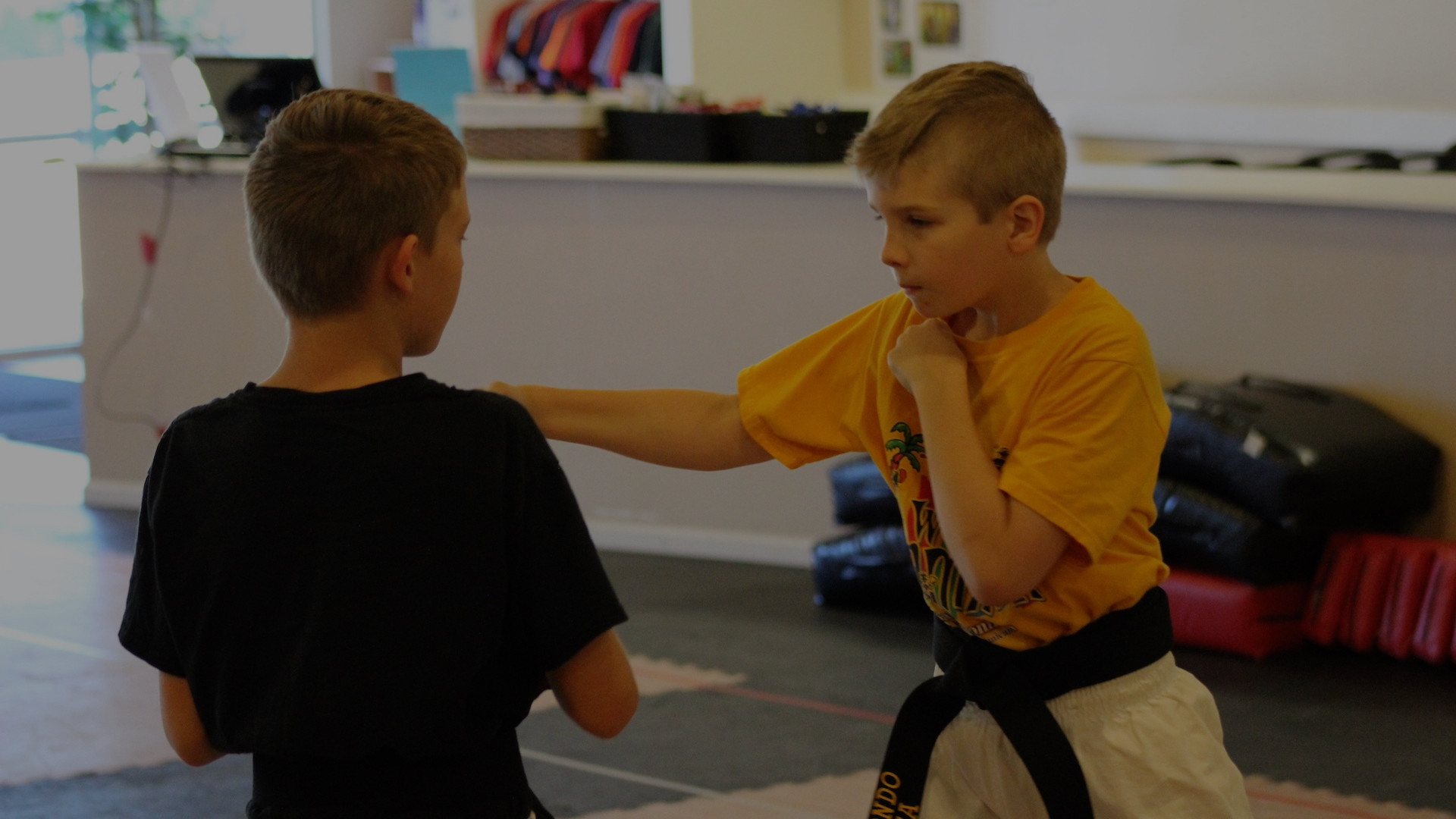 "<center><strong><span style=""color:#ffffff;"">We Are Open For In-Person Taekwondo Classes for Kids, Teens, And Adults</br>