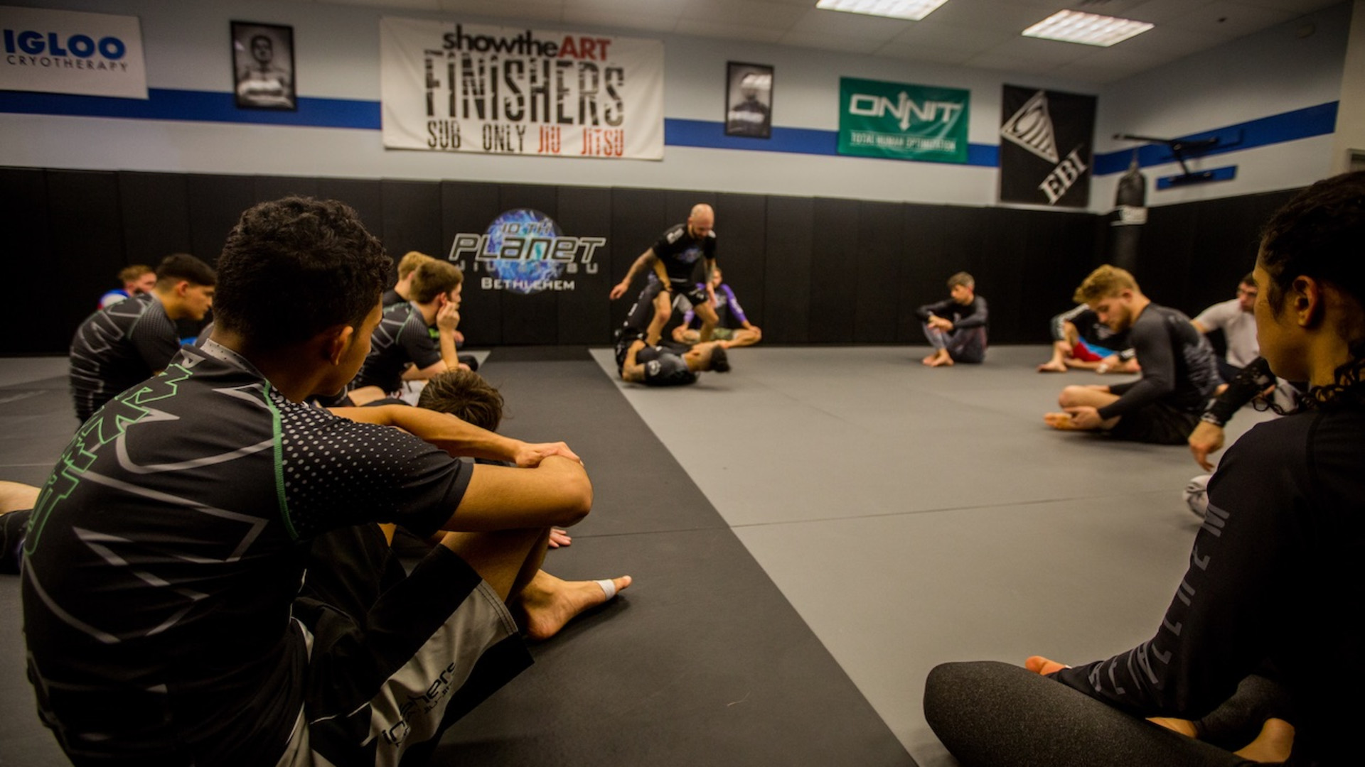 Learn real world self-defense with No-Gi Jiu Jitsu and Kickboxing in Easton