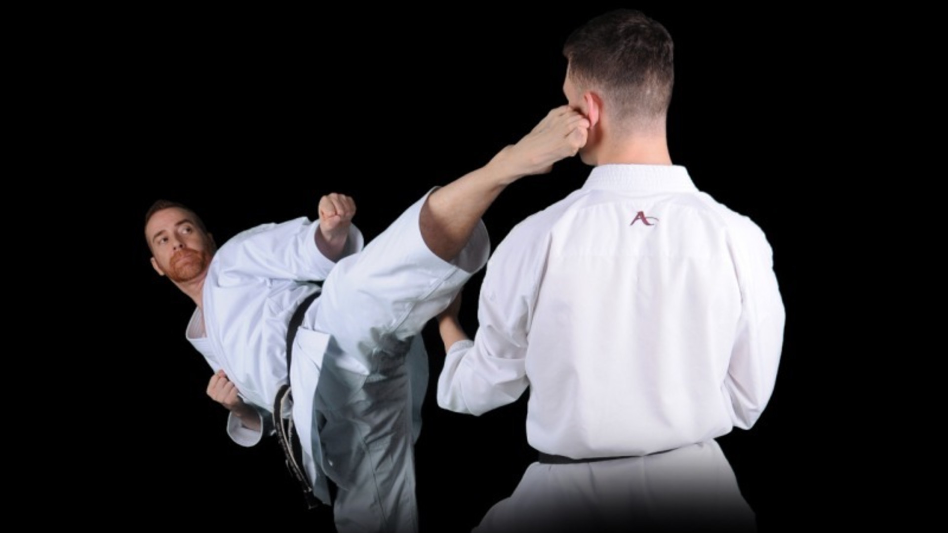 <style>  v {    text-shadow: 2px 2px 8px #1e2a55;  color: #fff } </style>  <strong><v>Traditional Karate Training in Scotland</v></strong>
