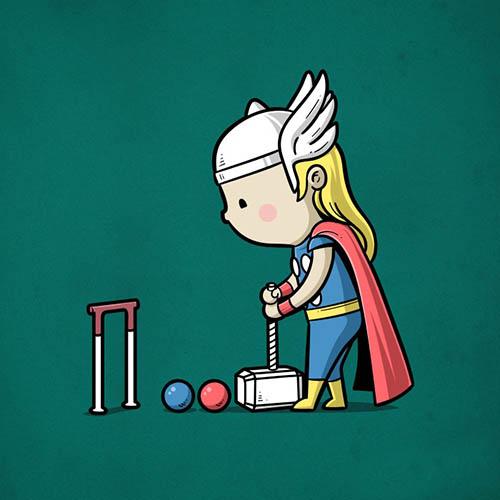Superhero Menggunakan Kekuatannya