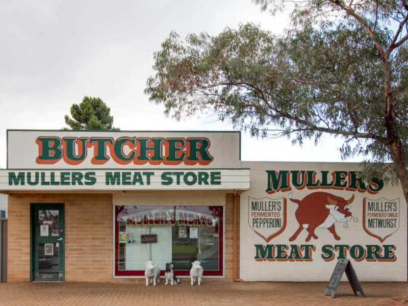 Mullers' Meat Store.