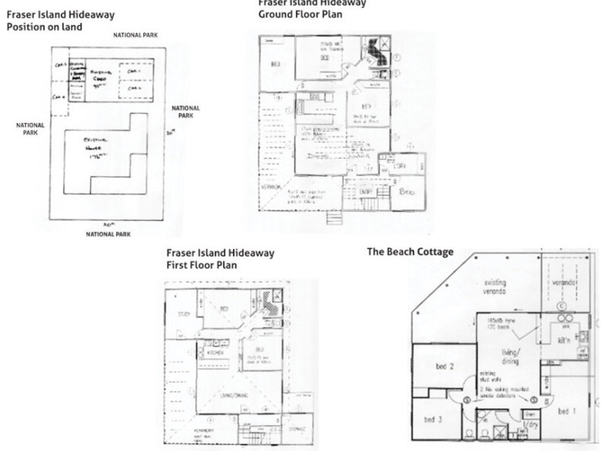 Floor Plan for Fraser island Hideaway & The Beach Cottage
