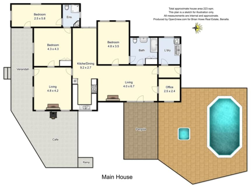 Floor Plan for Samaria Farm
