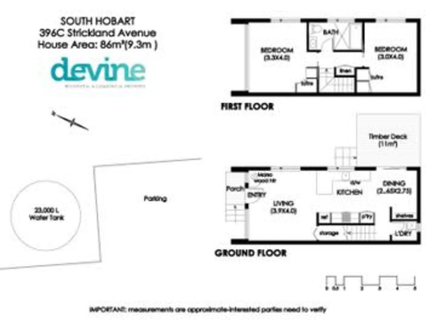 Floor Plan for Devine Property
