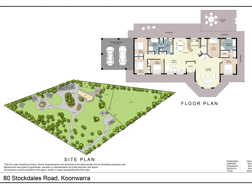 Floor Plan for Koonwarra Cottages