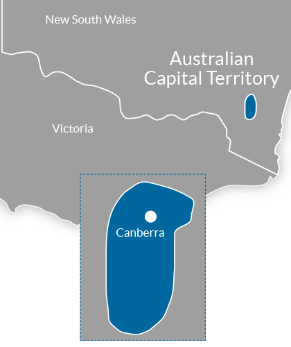 Canberra & ACT Region Map