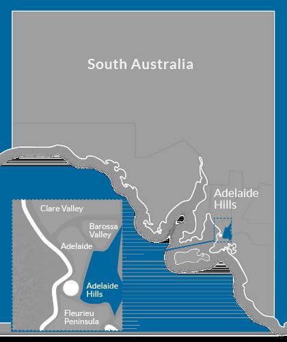 Adelaide Hills Region Map