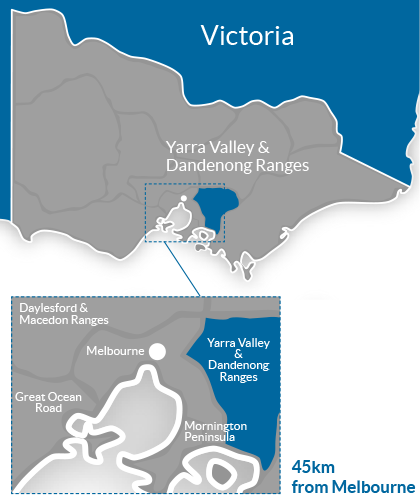 Yarra Valley & Dandenong Ranges Region Map