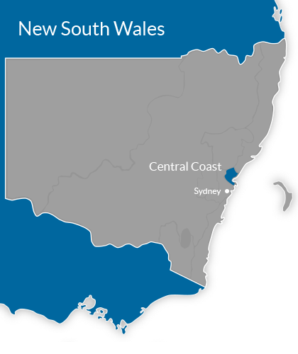 Central Coast Region Map
