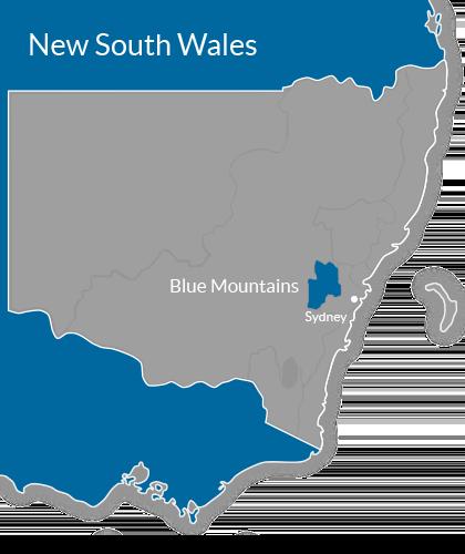 Blue Mountains Region Map