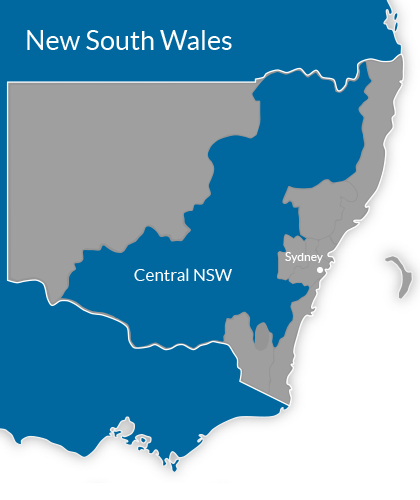 Central NSW Region Map