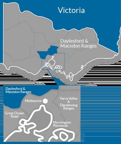 Daylesford & Macedon Ranges Region Map