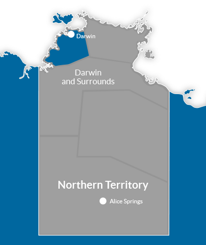 Darwin & Surrounds Region Map