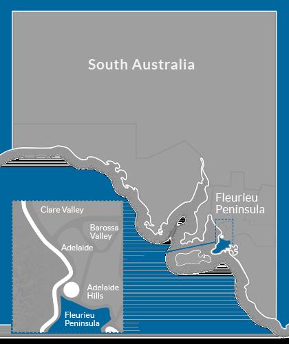 Fleurieu Peninsula Region Map