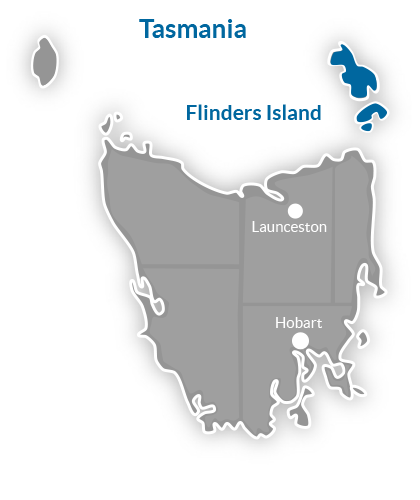 Flinders Island Region Map