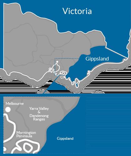 Gippsland Region Map
