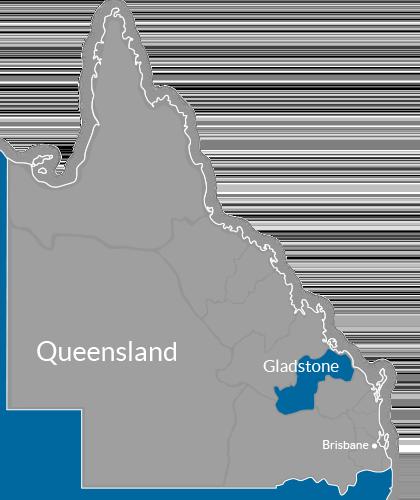 Gladstone Region Map
