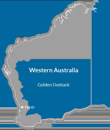 Golden Outback Region Map