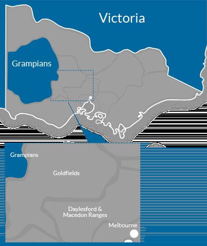 Grampians Region Map