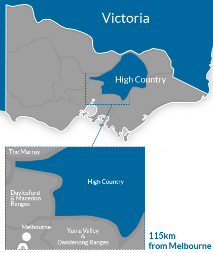 High Country Region Map