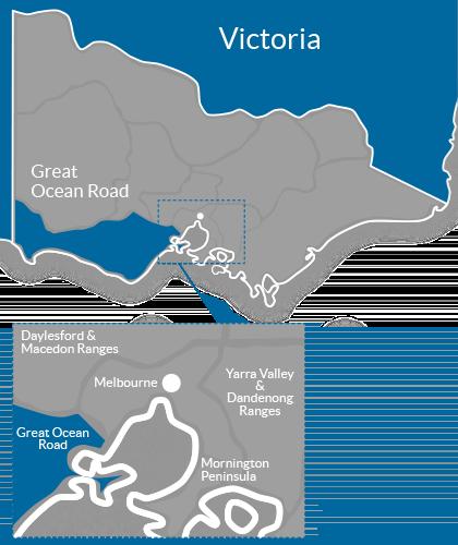 Great Ocean Road Region Map