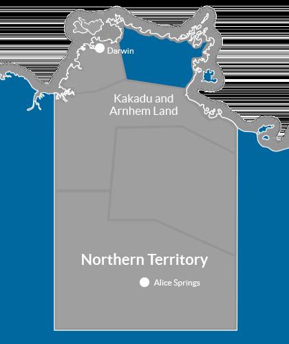Kakadu & Arnhem Land Region Map