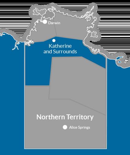 Katherine & Surrounds Region Map