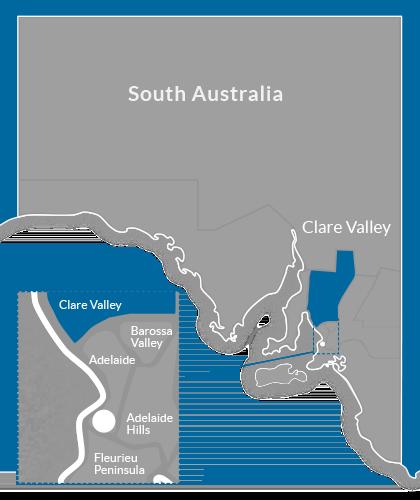 Clare Valley Region Map