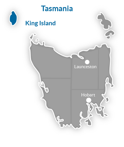King Island Region Map