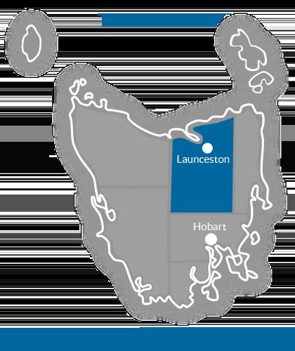 Launceston & North Region Map