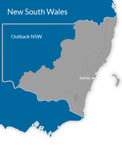 Outback NSW Region Map