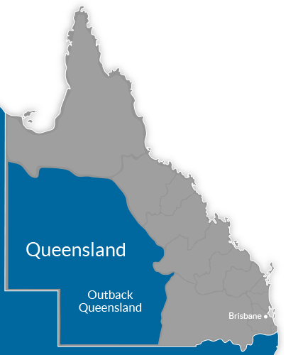 Outback QLD Region Map