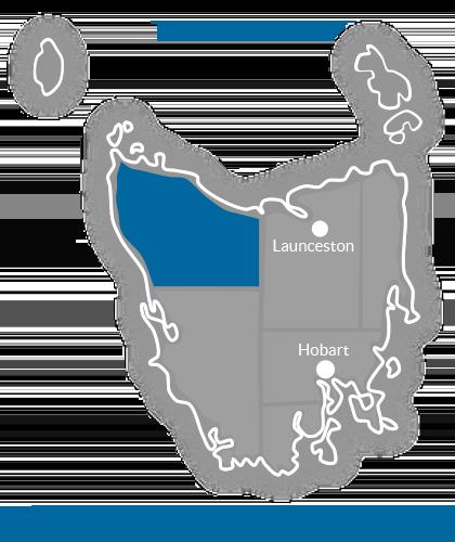 North West Region Map