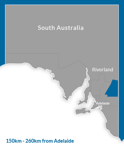 Riverland Region Map