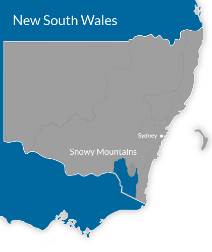 Snowy Mountains Region Map