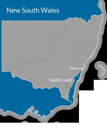 South Coast Region Map