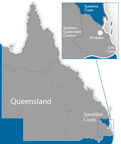 Sunshine Coast Region Map
