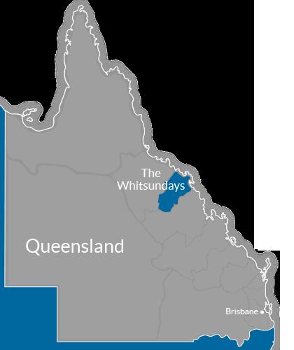 The Whitsundays Region Map