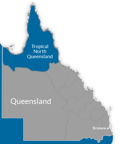 Tropical North Queensland Region Map