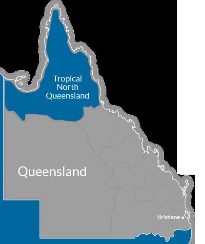 Tropical North Queensland Region Map