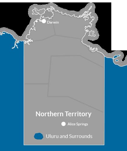 Uluru & Surrounds Region Map