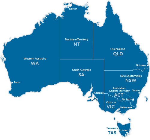 Map of Tourism Regions in Australia