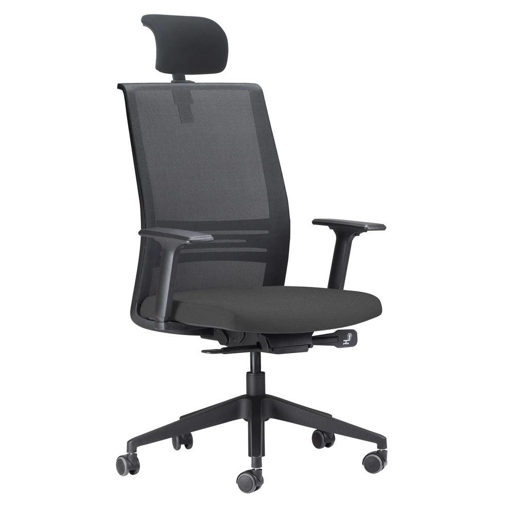 Cadeira presidente Agile com encosto Cabeça Frisokar