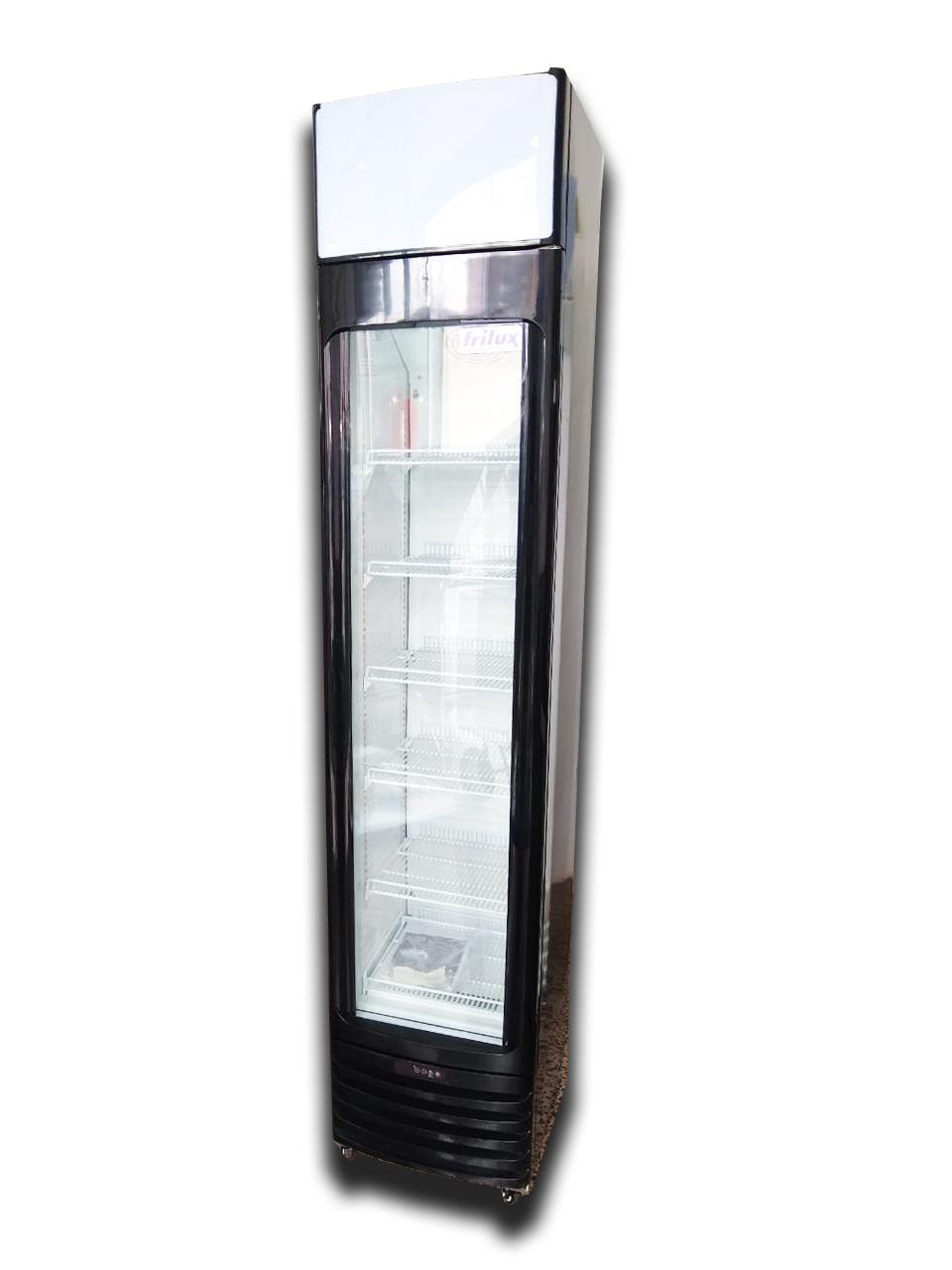 Expositor Visa-Cooler porta de vidro capacidade 150l preto 220V RF-003-ST Frilux