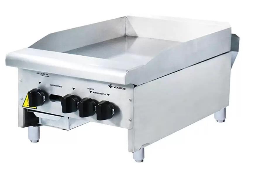 Chapa para lanche a gás hamburguers,carnes, hot dog CG45 Venâncio
